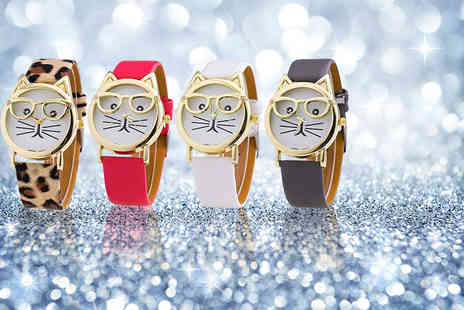 Solo Act - Ladies cat geek watch choose from four designs - Save 76%