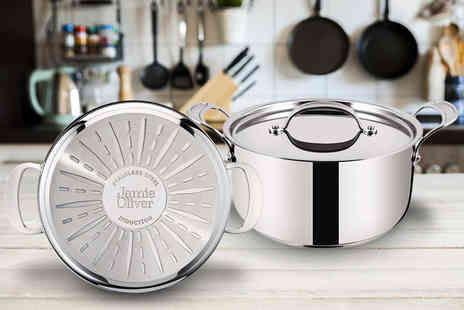 Dream Price Direct - Premium Jamie Oliver stainless steel stock pot - Save 67%