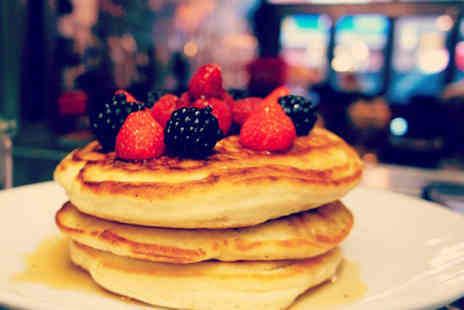 Tribeca West - Pancake stack and milkshake each for two or upgrade to a boozy milkshake - Save 60%