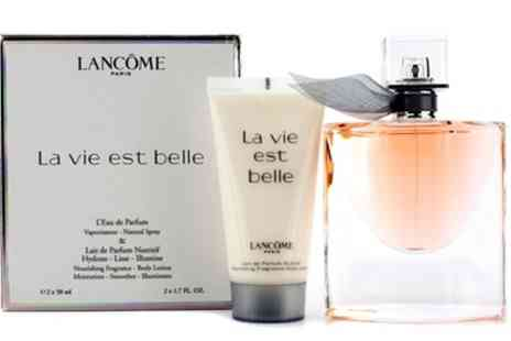 Groupon Goods Global GmbH - Lancome La Vie Est Belle 50ml LEau de Parfum Spray and 50ml Body Lotion With Free Delivery - Save 0%