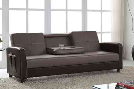 Groupon Goods Global GmbH - Tampa Three Seater Sofa Bed in Choice of Colour With Free Delivery - Save 64%