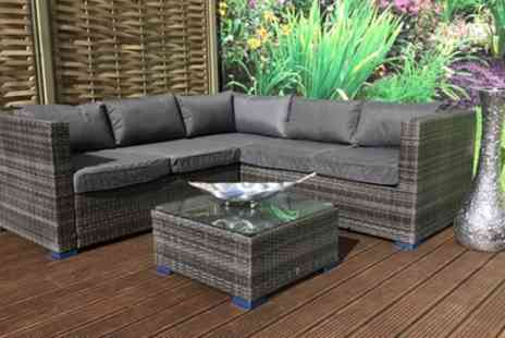Groupon Goods Global GmbH - Georgia Rattan Effect Dining Sofa Set in Choice of Colour with Optional Cover With Free Delivery - Save 8%