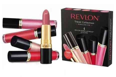 Groupon Goods Global GmbH - Four Pack of Revlon Super Lustrous Lip Glosses and Lipstick - Save 21%
