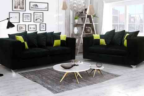 Groupon Goods Global GmbH - Nero Fabric Sofa Collection With Free Delivery - Save 49%
