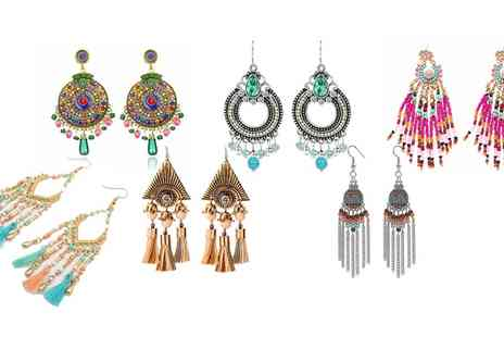 Groupon Goods Global GmbH - One or Six Pairs of Womens Drop Earrings - Save 87%