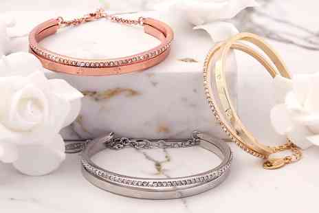 Neverland Sales - One or Two Mestige Aubrey Bracelets with Crystals from Swarovski With Free Delivery - Save 65%