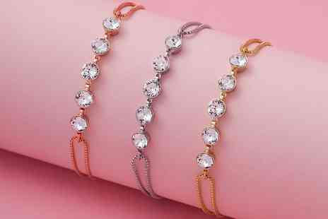 Neverland Sales - One or Two Payton Bracelets with Crystals from Swarovski With Free Delivery - Save 68%