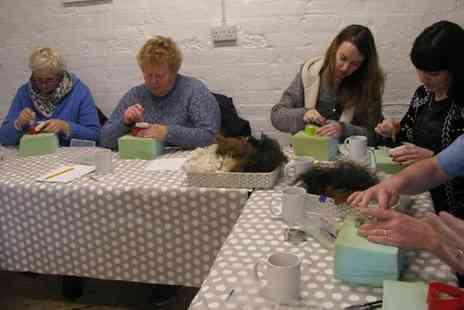 Charnwood Forest - Fleece craft course with a two course lunch and free Flowing tea or cold drinks for one - Save 39%