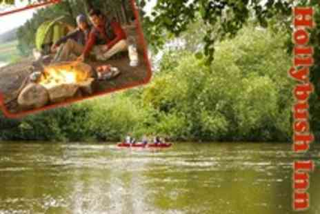 Hollybush Inn - In River Wye One Night Stay with Canoe Hire for Four- Save 60%