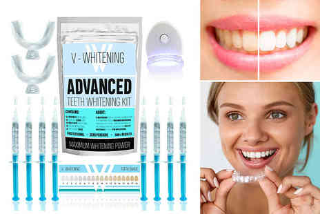 V Whitening - Six or eight gel teeth whitening kit - Save 80%