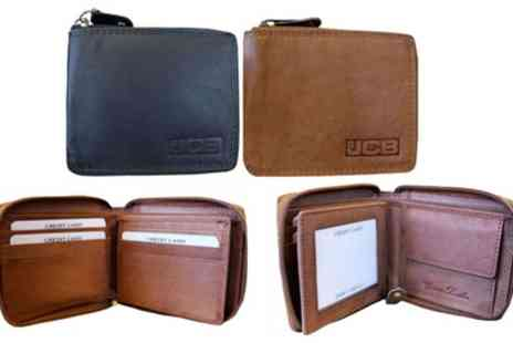 Groupon Goods Global GmbH - One or Two Jcb Compact Leather Wallets - Save 85%