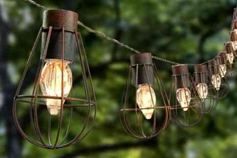 Groupon Goods Global GmbH - Solar 10 Led Bulb Cage String Lights - Save 0%
