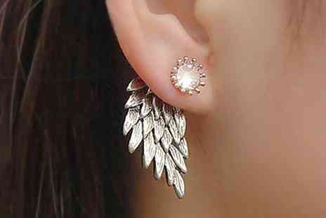 Groupon Goods Global GmbH - Three or Six Pairs of Angel Wing Stud Earrings - Save 80%