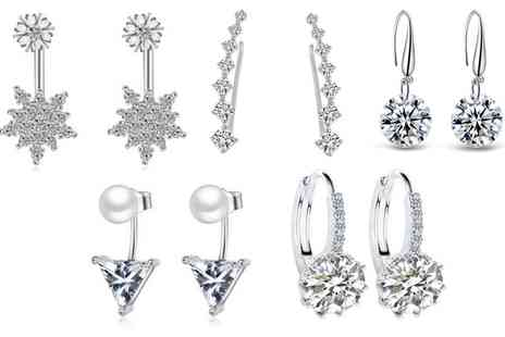 Groupon Goods Global GmbH - One, Two or Three Five Pair Sets of Earrings - Save 95%