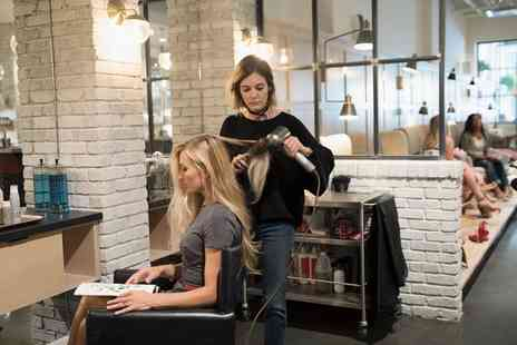 Class Unisex Hair Salon - Wash, Cut and Blow Dry with Optional Half Head Highlights or Full Head Colour - Save 24%