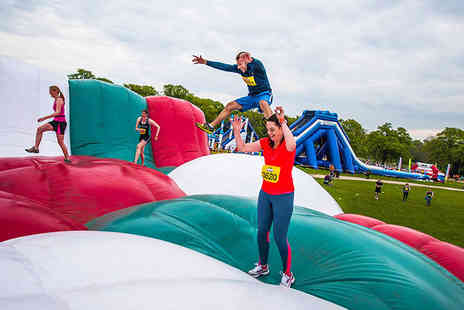 Be Gung Ho - Ticket to take part in an inflatable 5k run at Windsor, Durham, Manchester, or Essex - Save 28%