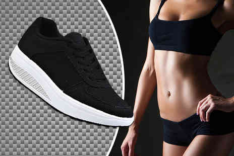 Khloenova - Pair of womens toning trainers select from four colours - Save 69%