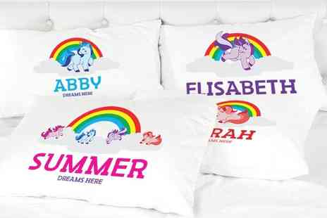 Shop Sharks - Personalised kids unicorn pillowcase - Save 71%