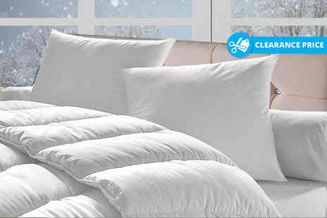 Home Furnishings Company - 15 tog winter duvet and four pillows - Save 76%