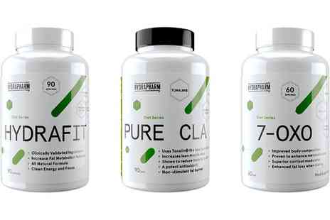 Groupon Goods Global GmbH - Hydrapharm Weight Management Capsules for Women Pure CLA, Hydrafit or 7-Oxo - Save 36%