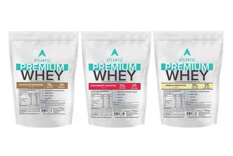 Groupon Goods Global GmbH - One or Three Pack of Atlantic Premium Whey in Choice of Flavour - Save 27%