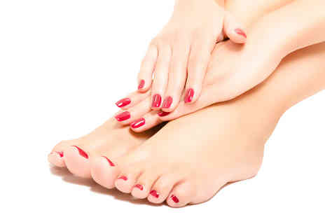 Image Hair & Beauty - Gel manicure or pedicure or receive both - Save 68%