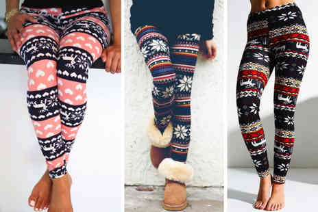 Anarchy - Pair of retro knitted Nordic leggings choose from seven colours - Save 83%