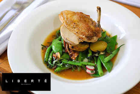 Liberte - Two course dining for two or four - Save 56%
