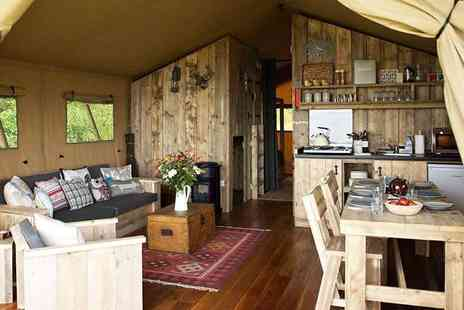 Hidden Hideaway - Two, three or four night glamping stay for up to five in a safari tent with a welcome pack - save up to 43% - Save 43%
