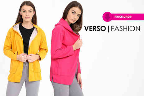 Verso Fashion - Womens hooded fleece jacket choose from two colours - Save 68%