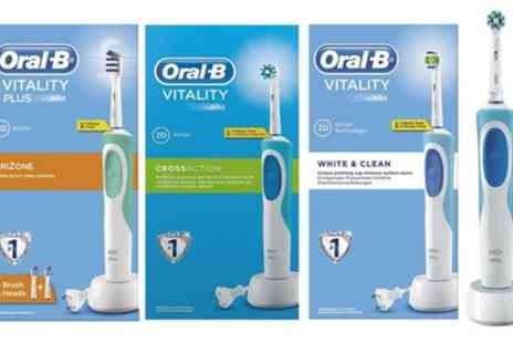 Groupon Goods Global GmbH - OralB Vitality Plus Electric Toothbrush with Optional Shaver Plug - Save 0%