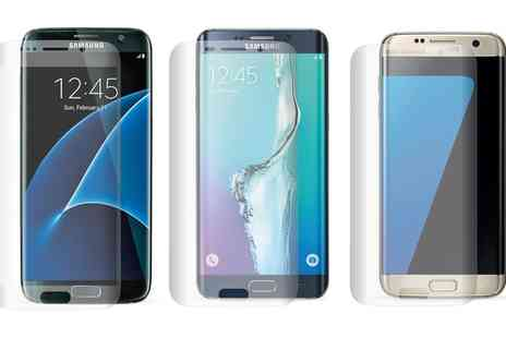 Groupon Goods Global GmbH - Three Screen Protectors for Samsung S5 Neo, Galaxy S6 Edge Plus, Galaxy S7 and Galaxy S8 Plus - Save 82%