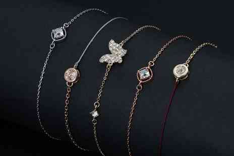 Neverland Sales - One, Two or Three Mestige Stackable Bracelets with Crystals from Swarovski With Free Delivery - Save 68%