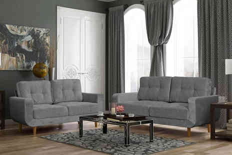 Sofas4Less - Aurora fabric sofa suite - Save 60%