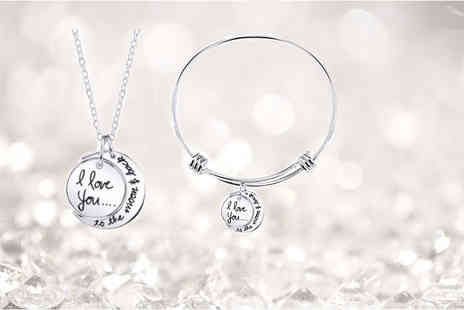 Solo Act - Moon and back jewellery set - Save 72%
