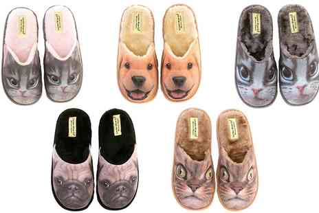 Groupon Goods Global GmbH - Womens Animal Print Slippers in Choice of Design and Size - Save 0%