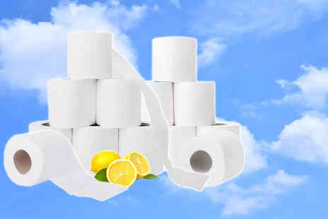 Ckent - 45 rolls three ply lemon scented toilet tissue - Save 52%