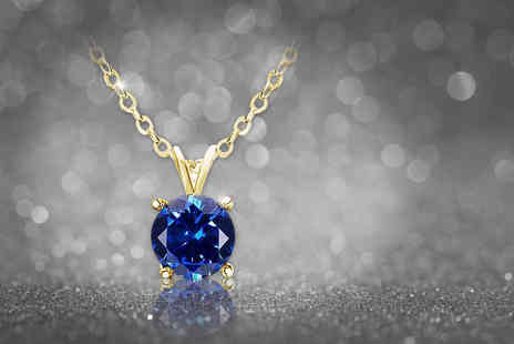 Evoked Design - Blue topaz necklace - Save 90%