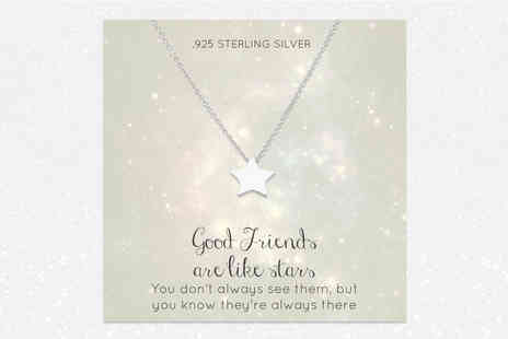 Birdells - Star shaped pendant necklace - Save 88%