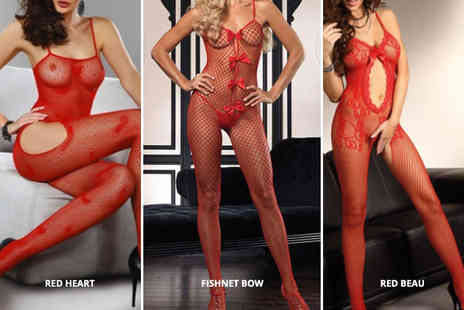 Treats on Trend - Red body stocking choose from five designs - Save 68%