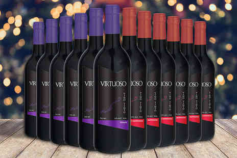 Easy Gifts - 12 bottles of red wine get six bottles of Cabernet Sauvignon and six bottles of Shiraz - Save 59%