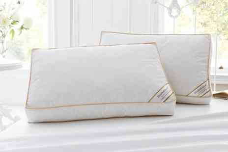 Groupon Goods Global GmbH - Two, Four or Eight Box Hotel Quality Duck Feather Pillows - Save 76%