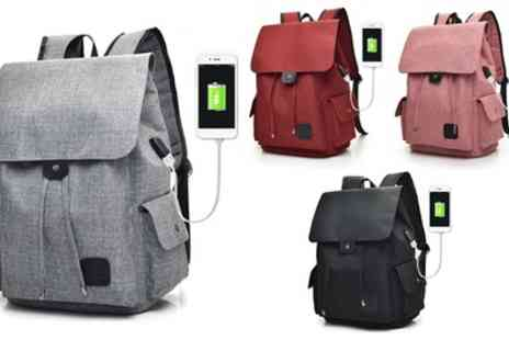 Groupon Goods Global GmbH - One or Two USB Charging Port Backpacks - Save 72%