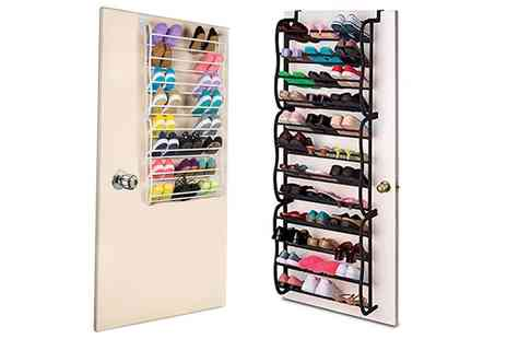 Groupon Goods Global GmbH - One or Two Over the Door Shoe Racks - Save 67%