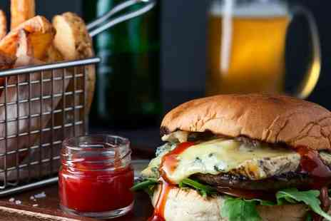 Bottleyards - Classic beef burger and a drink for two - Save 41%