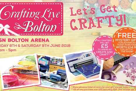 Crafting Live -Ticket to Crafting Live Bolton on 8 or 9 June - Save 50%