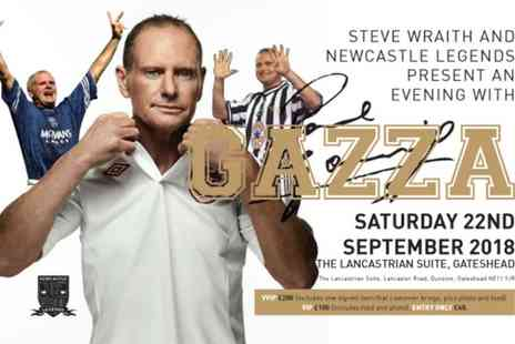 Newcastle Legends - An Evening with Paul Gascoigne, One Entry Only, VIP or VVIP on 22 September - Save 33%
