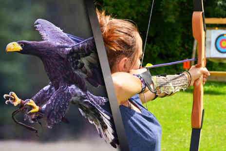 Herrings Green Activity Farm - Three hour Raptor & Reload bird handling and target shooting experience for 1 or 2 - Save 76%