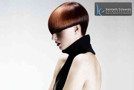 Kenneth Edwards - Half head of foil highlights or a full head colour including a cut and blowdry - Save 64%
