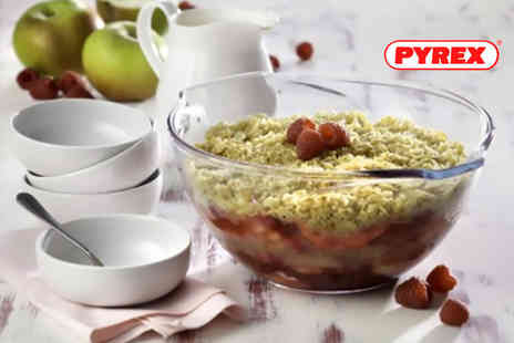Dream Price Direct - Set of three or six Pyrex mixing bowls - Save 25%